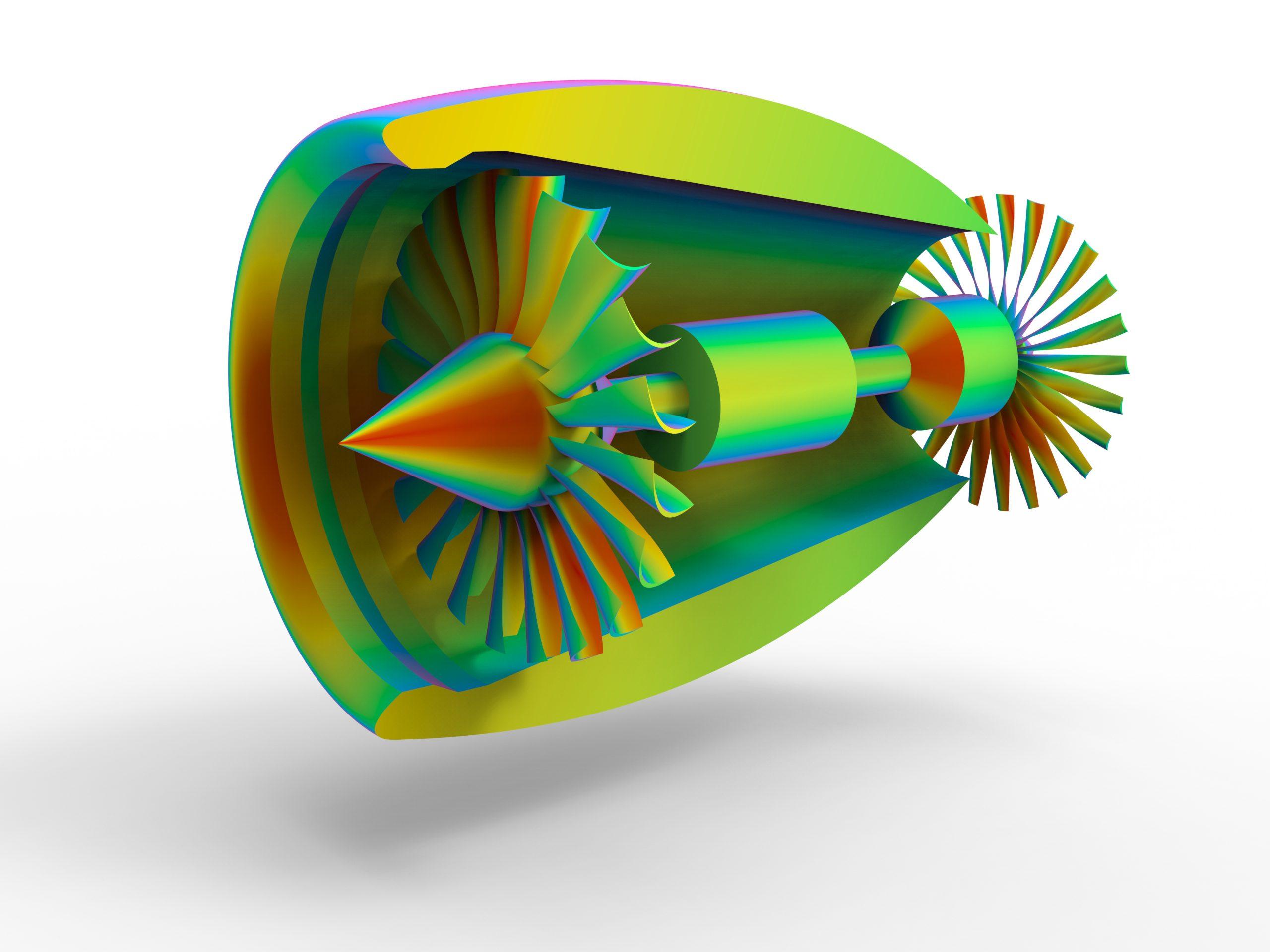 finite image analysis of airplane engine
